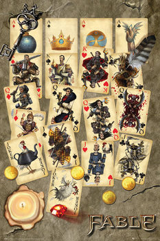 Fable - Playing Cards Plakat