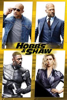 Fast & Furious Presents: Hobbs & Shaw - Cast Plakat