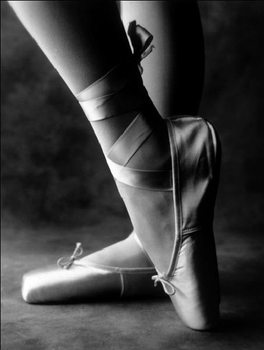 Feet of ballet dancer Kunsttryk