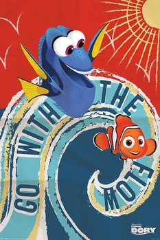 Finding Dory - Go With The Flow Plakat