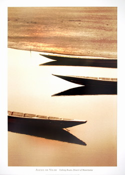 Fishng Boats,Desert/Mauritania Kunsttryk