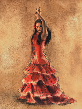 FLAMENCO DANCER I Kunsttryk