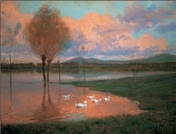 Floodplain - Flooded Land Kunsttryk