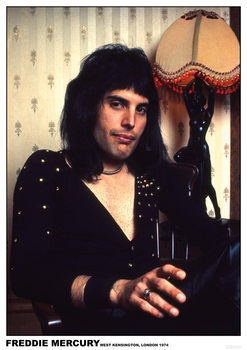 Freddie Mercury - London 1974 Plakat