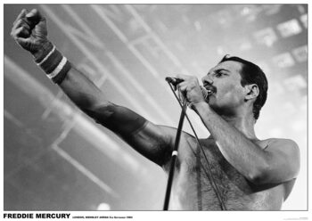 Freddie Mercury - Wembley 1984 Plakat