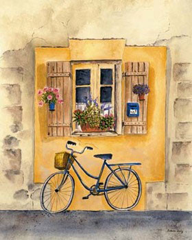 French Bicycle II Kunsttryk