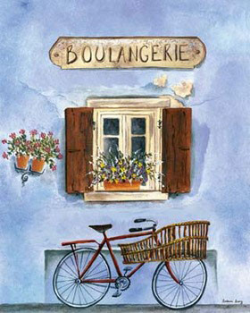 French Bicycle IV Kunsttryk