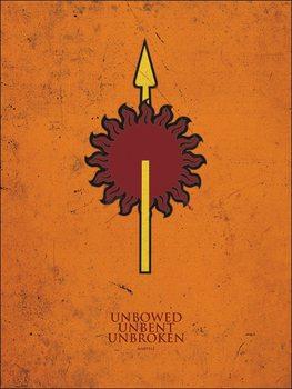 Game of Thrones - Martell Kunsttryk