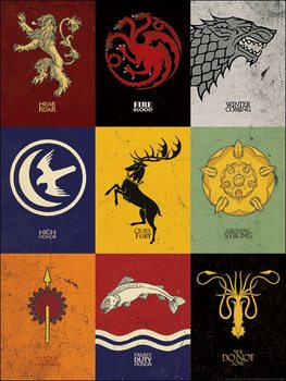 Game of Thrones - Sigils Kunsttryk