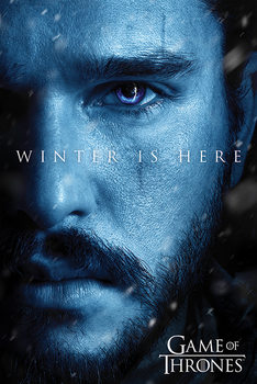 Game Of Thrones - Winter is Here - Jon Plakat