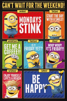 Grusomme mig 3 - Despicable Me - Cant wait for the weekend Plakat