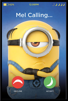 Grusomme mig 3 - Despicable Me - Mel Calling Plakat