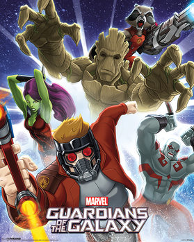 Guardians Of The Galaxy - Burst Plakat