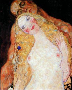 Gustav Klimt - Adamo ed Eva Kunsttryk