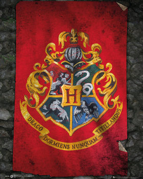 Harry Potter - Hogwarts Flag Plakat