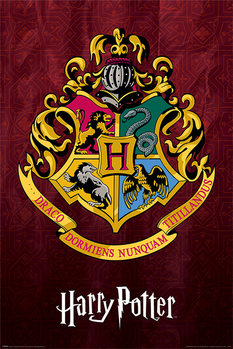 Harry Potter - Hogwarts School Crest Plakat