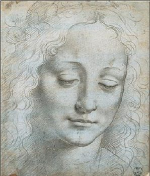 Head of a Woman Kunsttryk