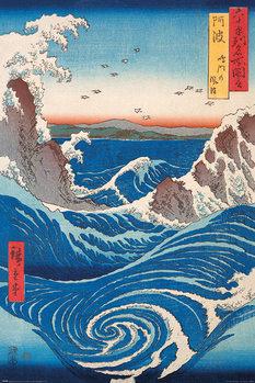 Hiroshige - Naruto Whirlpool Plakat