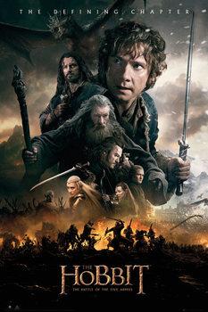 Hobbitten 3: Femhæreslaget - Fire Plakat