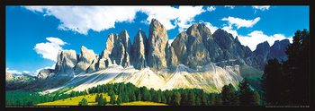 Italien - Dolomity, Saas Rigais západ slunce Plakat