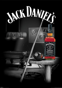 Jack Daniels - pool rooms Plakat