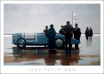 Jack Vettriano - Pendine Beach Kunsttryk