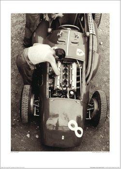 Jesse Alexander - Ferrari Mechanic, French GP, 1954 Kunsttryk