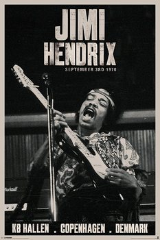 Jimi Hendrix - copenhagen Plakat