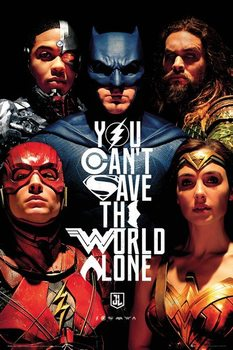 Justice League - Faces Plakat