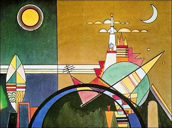 Kandinsky - La Grande Torre Di Kiev Kunsttryk