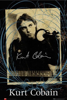Kurt Cobain - photo Plakat