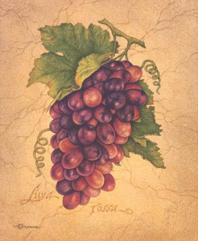 L'uva Rossa Kunsttryk