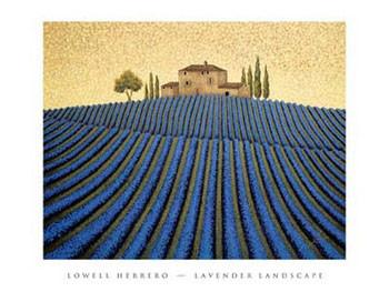 Lavender Landscape Kunsttryk