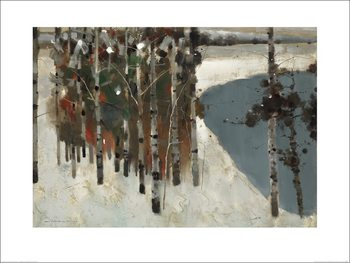 Law Wai Hin - Birch Trees Kunsttryk