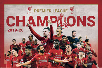 Liverpool FC - Champions Montage Plakat