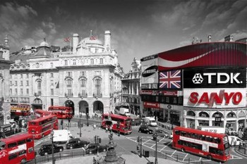 Londen - piccadilly circus Plakat
