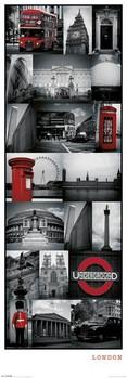 London - collage Plakat