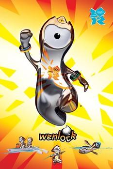 London Olympics 2012 - wenlock Plakat