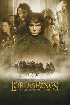 LORD OF THE RINGS - fellowship Plakat