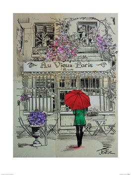 Loui Jover - Au Vieux Paris Kunsttryk