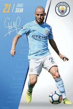 Manchester City - Silva 17-18 Plakat