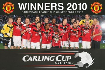 Manchester United - cup league Plakat