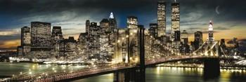 Manhattan - night & moon Plakat