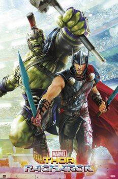 Plakat Marvel - Thor Ragnarok