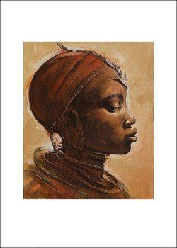 Masai woman I. Kunsttryk