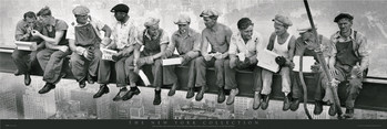 Men on girder Plakat