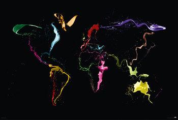 Michael Tompsett - World map Plakater