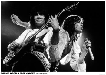 Plakat Mick Jagger and Ronnie Wood - Earls Court May 1976