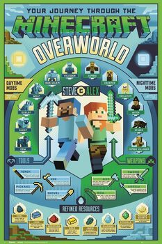 Minecraft - Overworld Biome Plakat