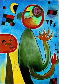 Miro - Les Echelles En Rou De Feu Kunsttryk